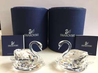 Swarovski 天鵝水晶一對