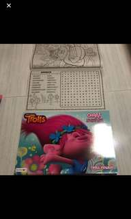 Last Pc left!! No restock Instock A3 trolls colouring and activity book brand new