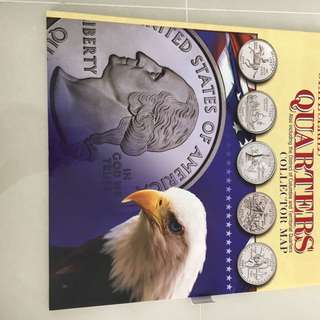 USA State Quarters Collector Map