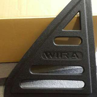 Proton wira carbon triangle mirror