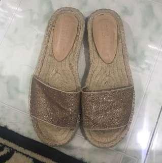 """REPRICED!! """"Bershka"""" chunky woven slipper/ sandal"""