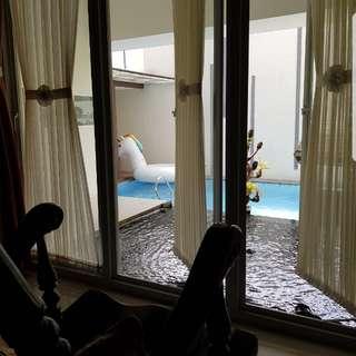 rumah minimalis ada kolam renang suryalaya - buah batu bandung (hak milik)