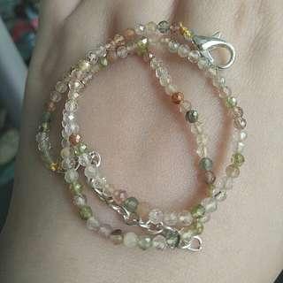$38 Fixed Price Promo - Natural Golden Rutilated Quartz Crystal Bracelet