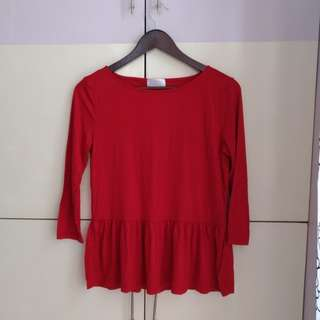 LOFT by Ann Taylor Red Blouse