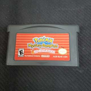 GBA Pokemon Mystery Dungeon: Red Rescue Team (Used Game)