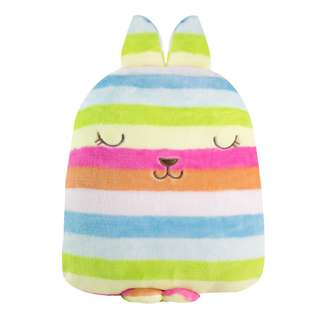 3in1 Skittles Wabbit Pillow with Blanket and warmer