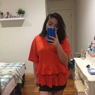 HnM Orange Top