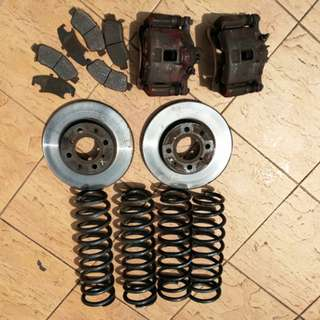 Brake disc n caliper single cam ek