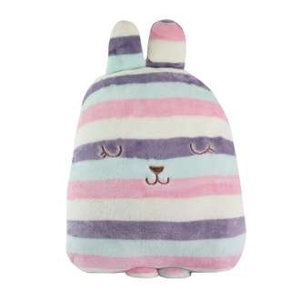 3in1 Candy Wabbit Pillow with Blanket and Hand warmer