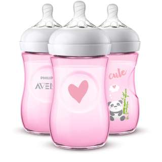 🆕🚼Philips AVENT Pink Panda Limited Edition Natural Bottle (3 Pack)