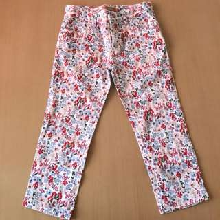 Peppermint Floral Pants for Kids