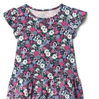 GAP GIRL LOOSE FLOWER PRINTED TOP