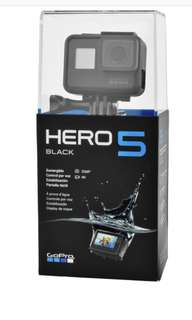 GoPro hero 5 1 year local/ international warranty
