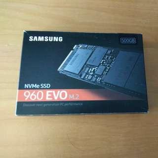 Samsung NVMe PCIE SSD 960 EVO M.2 500GB
