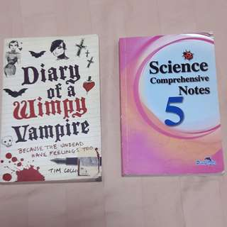 *DIARY of a WIMPY VAMPIRE & SCIENCE NOTES*