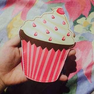 Cupcake pink wallet