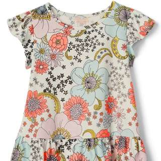 GAP GIRL LOOSE FLORAL TOP