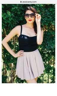Swim skirt cafe polka dot colour
