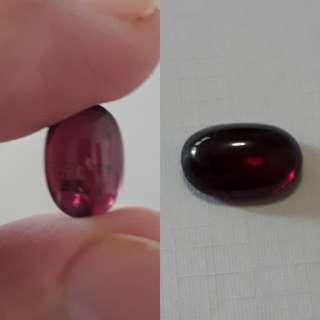 🌺Very nice Madagasca Rhodolite Garnet carbocheon. 4.80 ct
