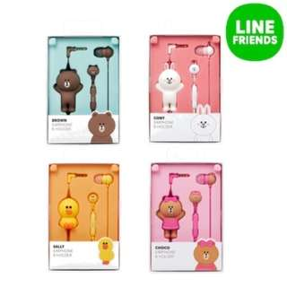 <PO>Line Friends earphone and holder