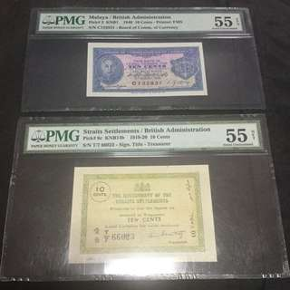 1919-1920 & 1940 Ten cents