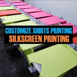 Customize shirts printing