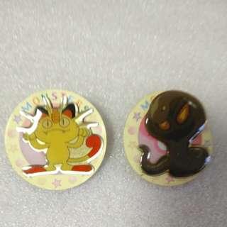 寵物小精靈 襟章共2個