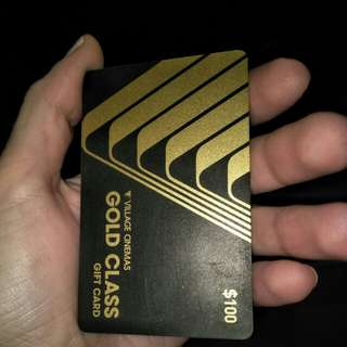 Village cinemas gold class gift card