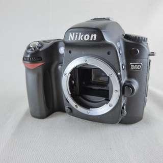 Nikon D80 數位單眼相機 公司貨 九成新 快門數24480次