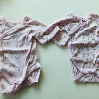 Petit Bateau - 0-3 months body suits