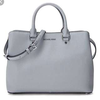 Michael Kors Savannah Medium grey blue bag