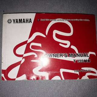 yamaha 135 es manual book