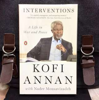 《New Book Condition + Memoir / Autobiography Of Kofi Annan》INTERVENTION : A Life in War and Peace