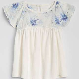 GAP GIRL FLOUNCE TOP