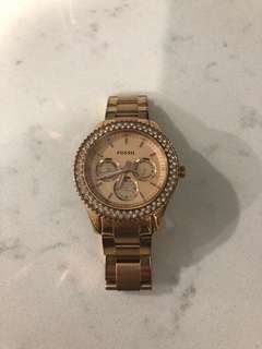 Rose Gold Fossil ladies watch