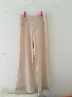 Cream flare pants SEP