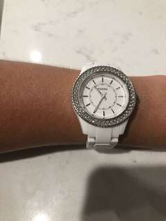 White Fossil ladies watch
