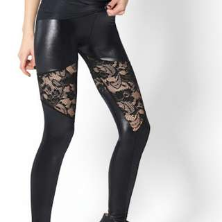 BLACK MILK LACE CUT OUT LEGGINGS SIZE SMALL free Postage!