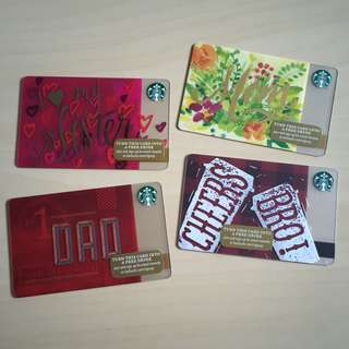Starbucks USA - Starbucks Cards Mom Dad Sister Brother