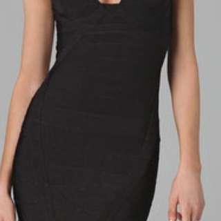 Herve leger black cocktail dress