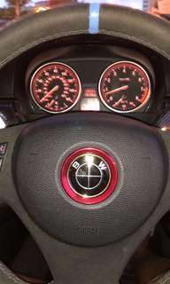 Bmw steering wheel emblem bezel