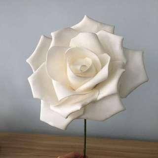 婚攝道具,白色花(oversize)
