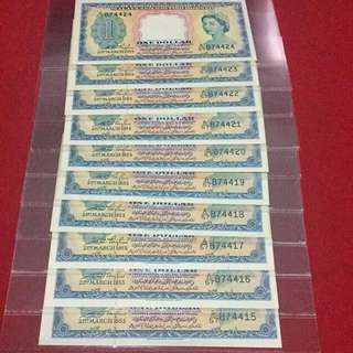 🎉CNY SALE🎉10 Running 1953 Malay $1