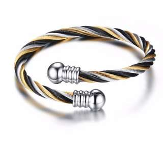 Men's Stainless Wire Rope Bracelet