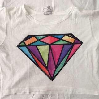 Rainbow Diamond Crop Top