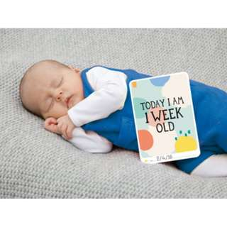 Milestone Baby Photo Cards Cotton Candy