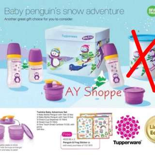 Tupperware Brands baby Bottle+milk powder set