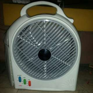 Electric fan with lights .. di n sya rechargeable