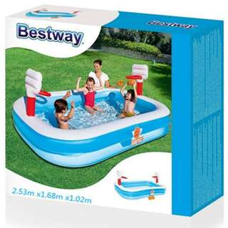 Bestway Inflatable Kids Swimming Pool Basketball