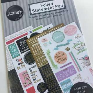 [Free NM] Foiled Scrapbook Stickers